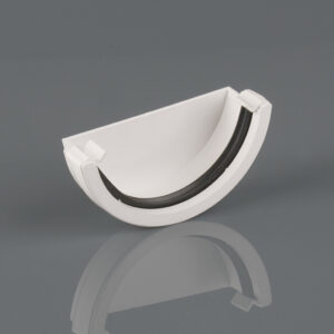 External Stopend Roundstyle Arctic White