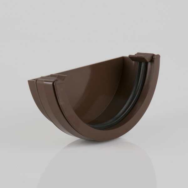 External Stopend Roundstyle Brown Brett Martin