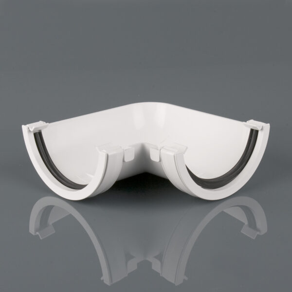90° Gutter Angle Roundstyle Arctic White