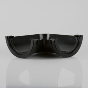 90° Gutter Angle Roundstyle Black