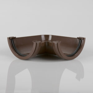 90° Gutter Angle Roundstyle Brown
