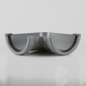90° Gutter Angle Roundstyle Grey