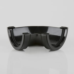 120° Gutter Angle Roundstyle Black