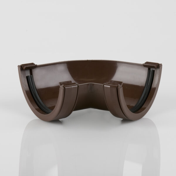 120° Gutter Angle Roundstyle Brown