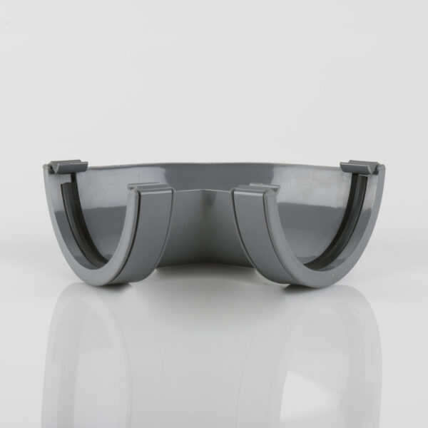 120° Gutter Angle Roundstyle Grey