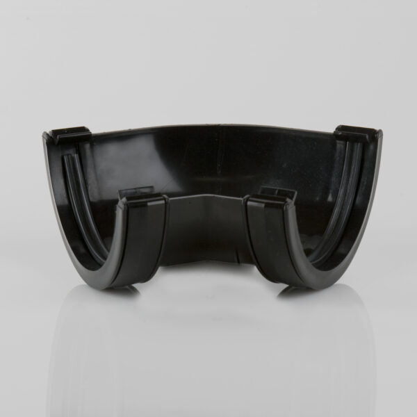135° Gutter Angle Roundstyle Black