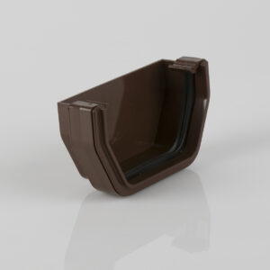 External Stopend Squarestyle Brown