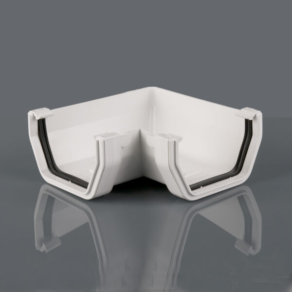 90° Gutter Angle Squarestyle Arctic White