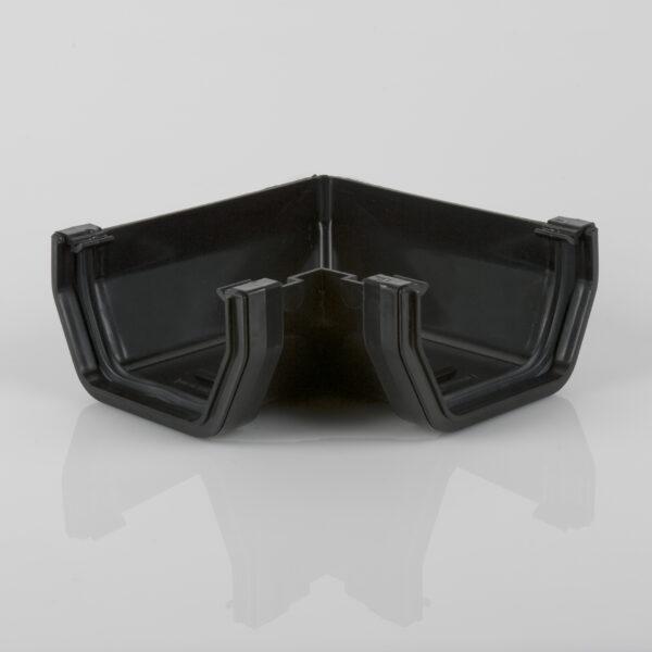 90° Gutter Angle Squarestyle Black