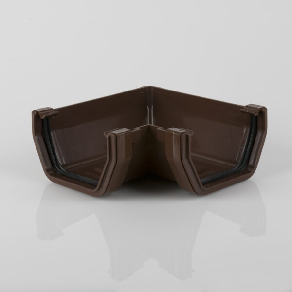 90° Gutter Angle Squarestyle Brown