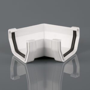 120° Gutter Angle Squarestyle Arctic White