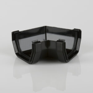 120° Gutter Angle Squarestyle Black