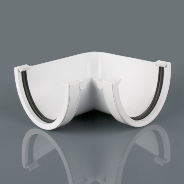 90° Gutter Angle Deepstyle Arctic White