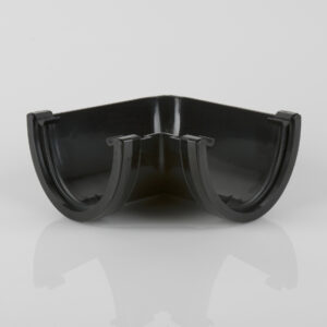 90° Gutter Angle Deepstyle Black