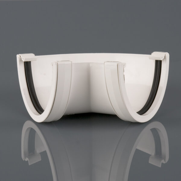 120° Gutter Angle Deepstyle White