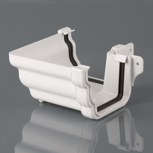 90° External Gutter Angle Prostyle Ogee Arctic White