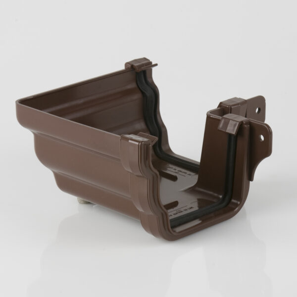 90° External Gutter Angle Prostyle Ogee Brown