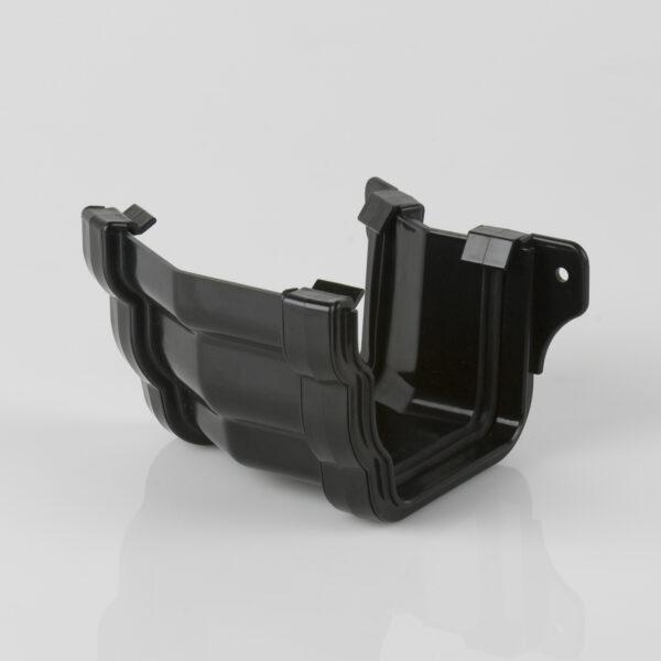 150° External Gutter Angle Prostyle Ogee Black
