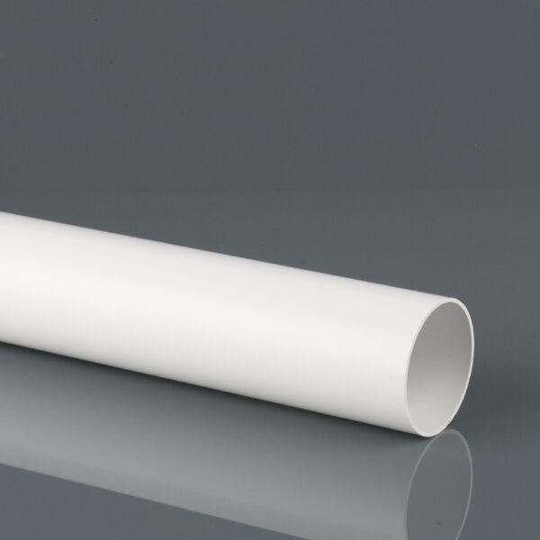 2.5m, 4m, 5.5m 68mm Round Downpipe Arctic White