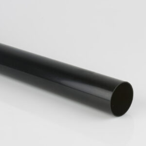 2.5m, 4m, 5.5m 68mm Plain Ended Pipe Black