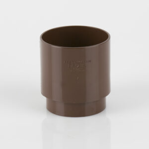 68mm Round Downpipe Connector Brown
