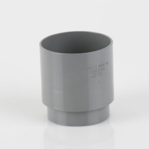 68mm Round Downpipe Connector Grey