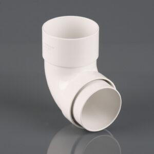 92.5º Round Downpipe Bend Arctic White