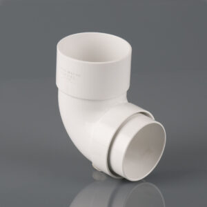 112.5º Round Downpipe Offset Bend Arctic White