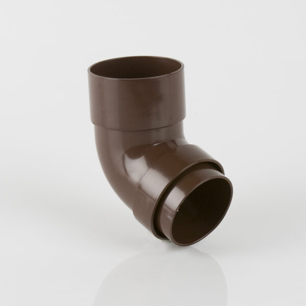 112.5º Round Downpipe Offset Bend Brown