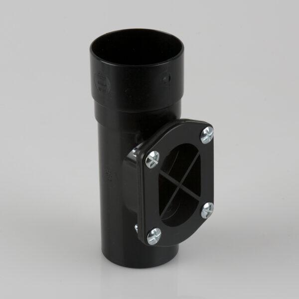 Round Downpipe Access Pipe Black