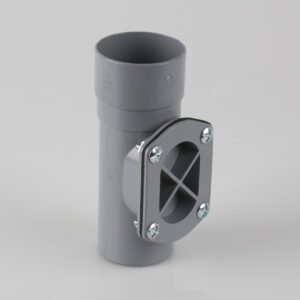 Round Downpipe Access Pipe Grey