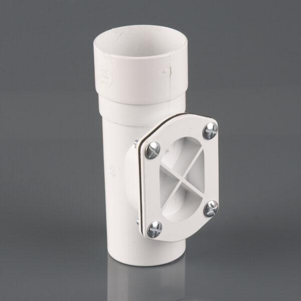 Round Downpipe Access Pipe White