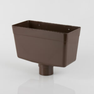 Round & Square Downpipe Rainwater Hopper Head Brown