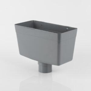 Round Downpipe Rainwater Hopper Head Grey