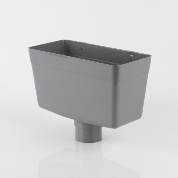 Round Downpipe Rainwater Hopper Head Grey