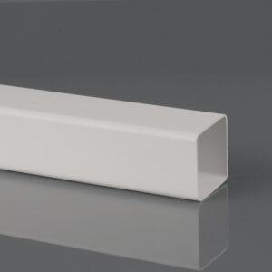 2.5m, 4m, 5.5m 65mm Square Downpipe Arctic White