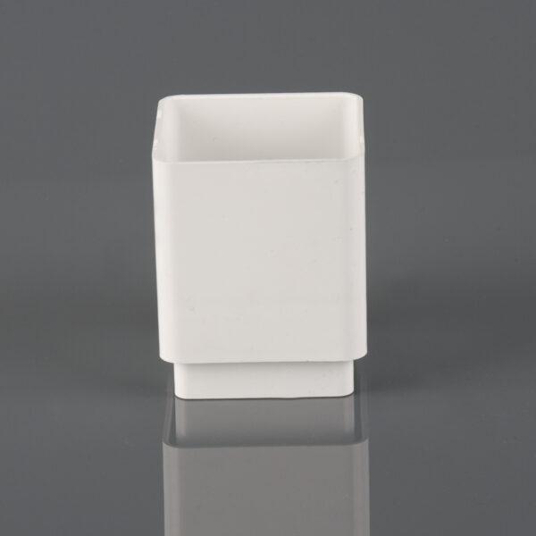 Square Downpipe Connector Arctic White