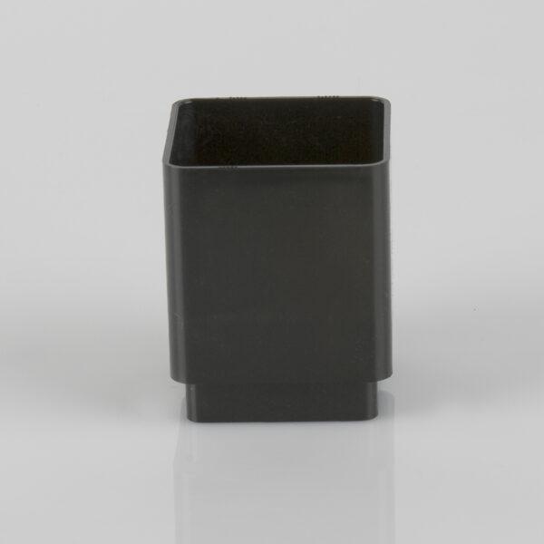 Square Downpipe Connector Black