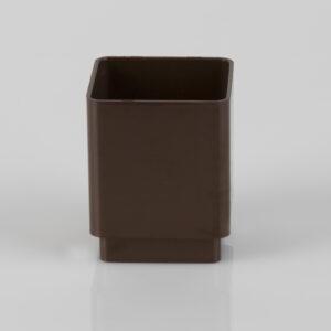 Square Downpipe Connector Brown