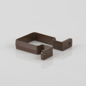Square Downpipe Bracket Brown