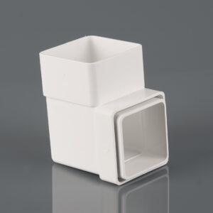 92.5° Square Downpipe Bend Arctic White