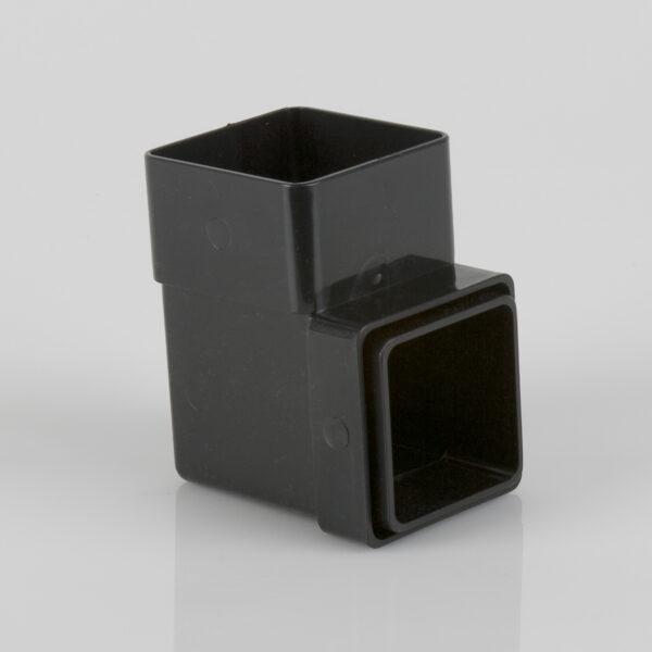 92.5° Square Downpipe Bend Black