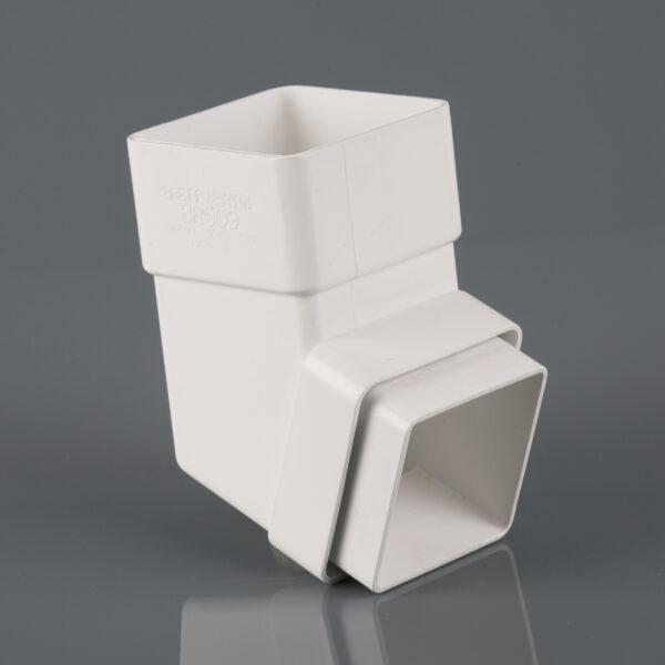 112.5° Square Downpipe Offset Bend Arctic White