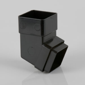 112.5° Square Downpipe Offset Bend Black