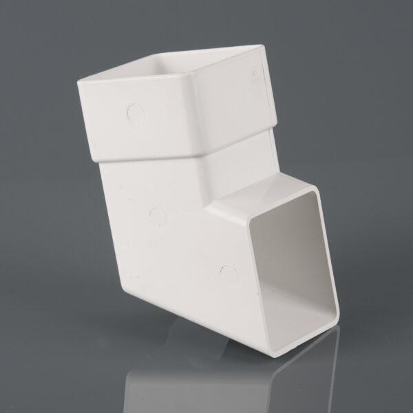 Square Downpipe Shoe Arctic White