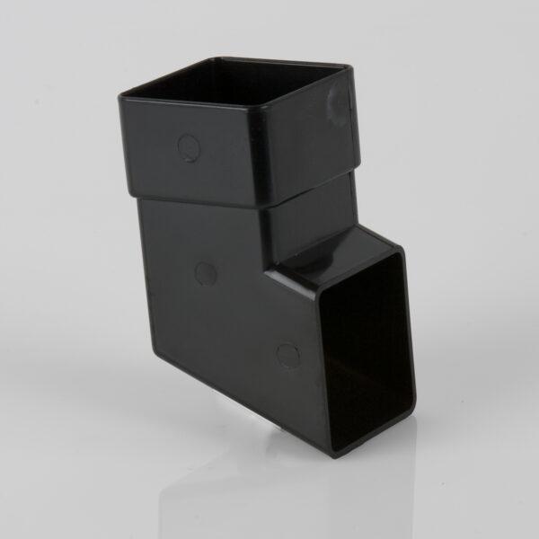 Square Downpipe Shoe Black