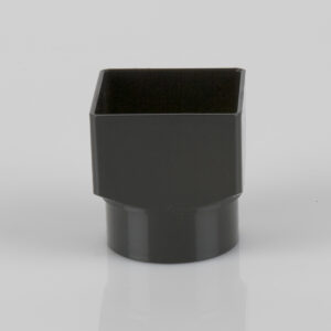Square Downpipe Square to Round Adaptor Black