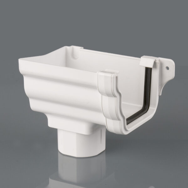 Left Hand Stopend Outlet Prostyle Ogee Arctic White