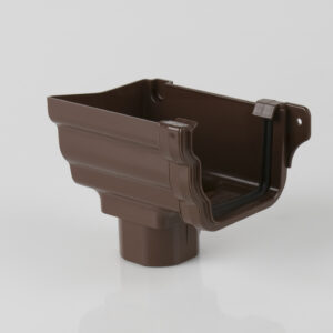 Left Hand Stopend Outlet Prostyle Ogee Brown