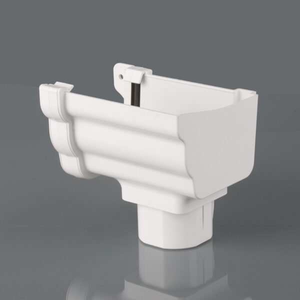 Right Hand Stopend Outlet Prostyle Ogee Arctic White